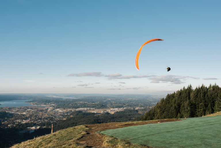 Paragliding at Tiger Mt in Issaquah