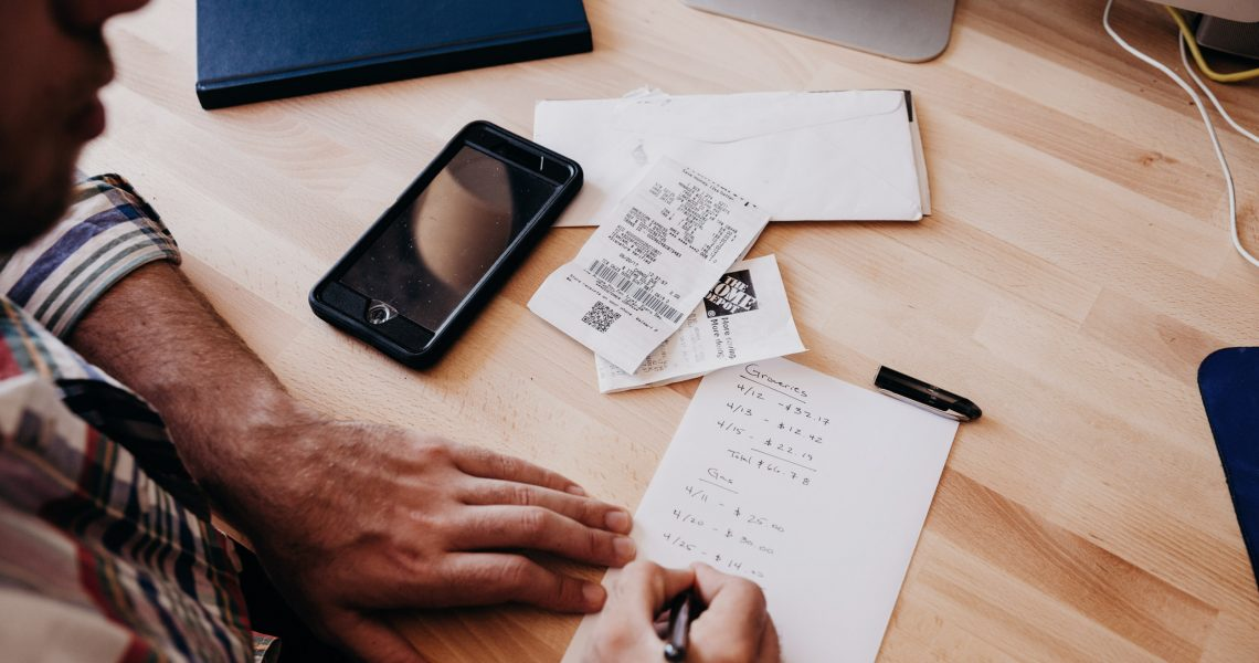 Creating a budget, i.e. financial to-do list
